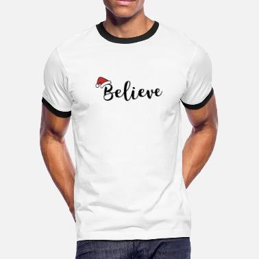 a79bba5b Xmas Quotes Christmas santa hat gift idea holiday xmas quote - Men's.  Men's Ringer T-Shirt