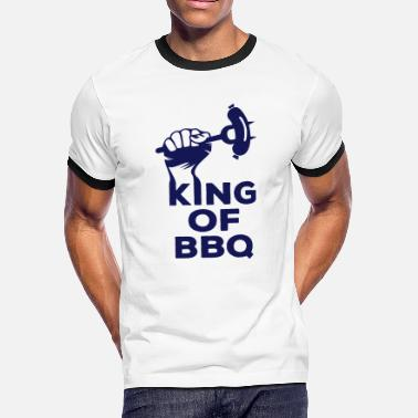King of BBQ grill barbecue sausage - Men's Ringer T-Shirt