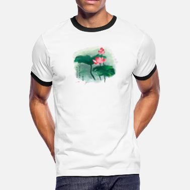 Lotus Flower lotus flower Chinese culture - Men's Ringer T-Shirt