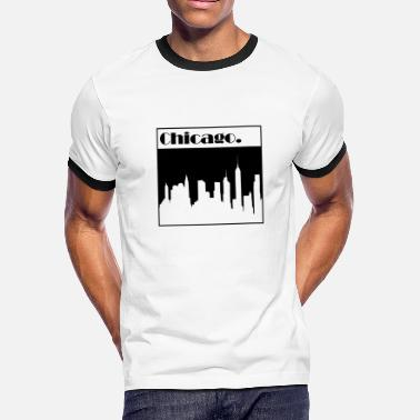 Chicago Words Chicago - Men's Ringer T-Shirt