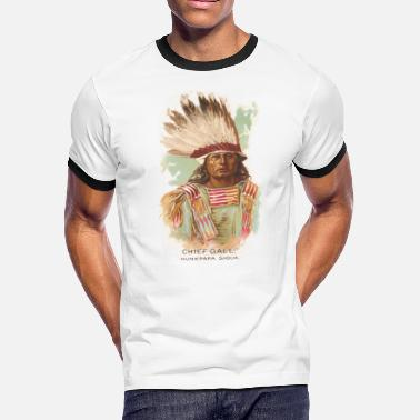 Native American Historical Art Chief Gall - Men's Ringer T-Shirt