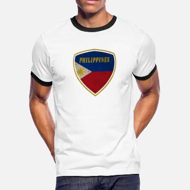 29c9493405 Philippines coat of arms vintage gift flag Manila - Men's Ringer T.  Men's Ringer T-Shirt