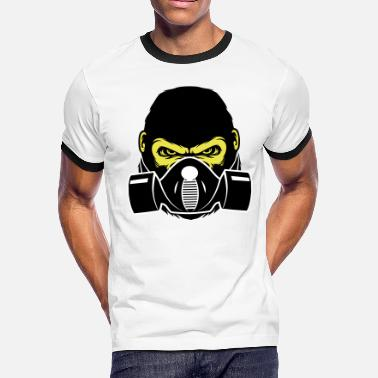 Stench Gorilla with gasmask - Men's Ringer T-Shirt