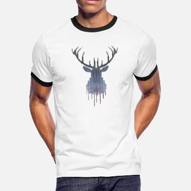 Deer Head Deer - Men's Ringer T-Shirt
