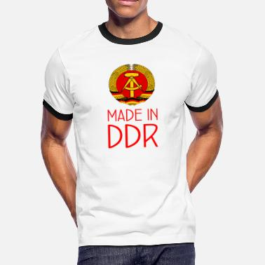 Berlin Bear Made in DDR - Deutsche Demokratische Republik - Men's Ringer T-Shirt