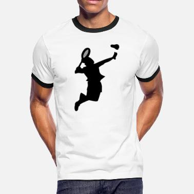 Badminton Game Badminton Shuttlecock Player Sports Game - Men's Ringer T-Shirt