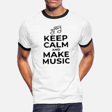 Make Music make music - Men's Ringer T-Shirt