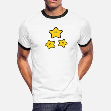 Funny Video Video Game Star funny tshirt - Men's Ringer T-Shirt