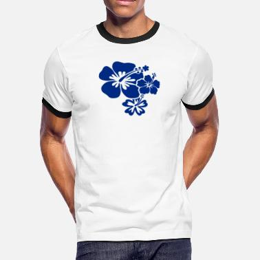 Hibiscus Flower Hibiscus Flowers - Men's Ringer T-Shirt