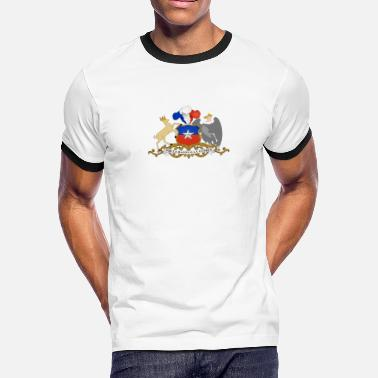 Chile National Coat Of Arms Of Chile - Men's Ringer T-Shirt