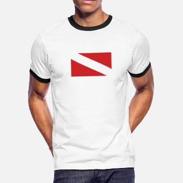 642732dccc69b Ocean Shark DIVE FLAG Diving Tauchen busseig Mergulho Buceo - Men  . Men s  Ringer T-Shirt