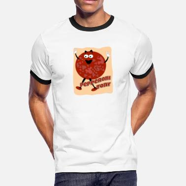 Little Piece Of Heaven Your Pal Pepperoni Tony - Men's Ringer T-Shirt