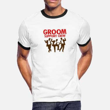 Bachelor Groom Support Crew 1 (2c)++ - Men's Ringer T-Shirt