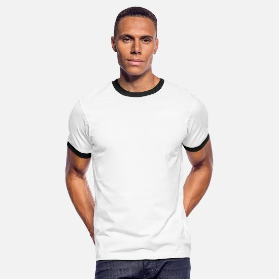 Typography T-Shirts - Defeat is Temporary - Men's Ringer T-Shirt white/black