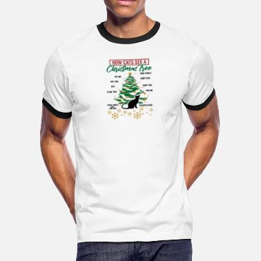 b159fb724 Ugly Christmas Christmas How Cats See A Christmas Tree Gift Idea -  Men'. Men's Ringer T-Shirt