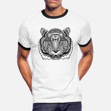 Aztec White Tiger TSHIRT - Men's Ringer T-Shirt