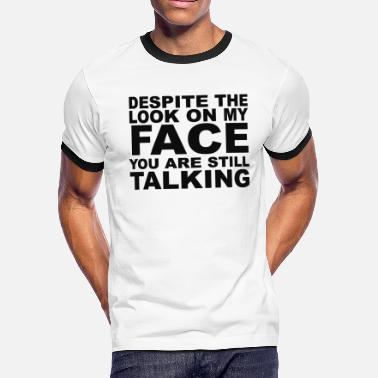 8a1c49148 Rude Rude Slogan - Men's Ringer T-Shirt