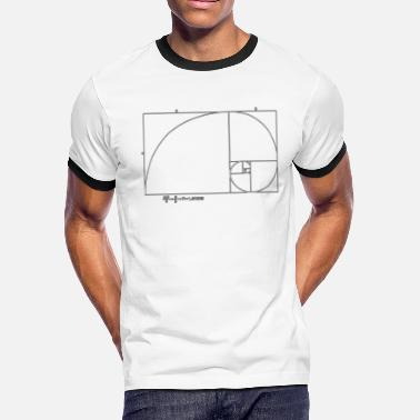 Cooper golden ratio fibonacci - Men's Ringer T-Shirt