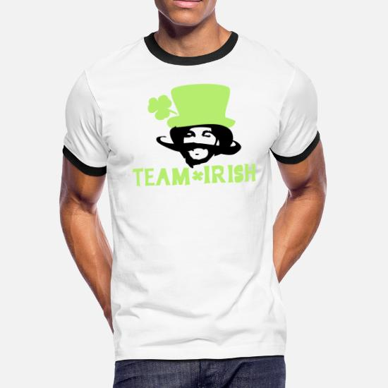 277923fd TEAM IRISH lucky charm st.Patrick's day Men's Ringer T-Shirt ...