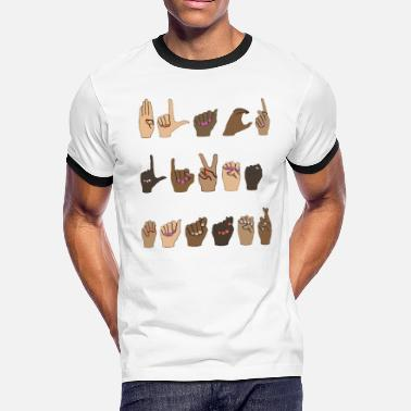 Hands Hands Of Love - black lives matter asl - Men's Ringer T-Shirt