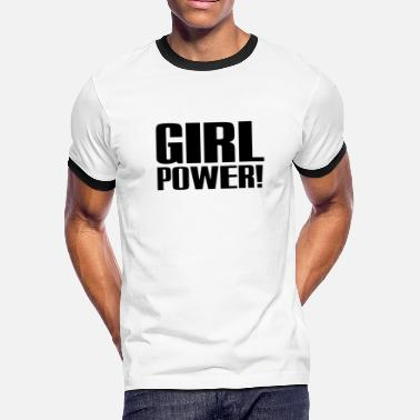 Spice Girls Girl Power Girl Power Logo Black - Men's Ringer T-Shirt