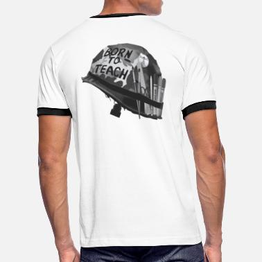 Open Arms Born to teach Art B&W - Men's Ringer T-Shirt