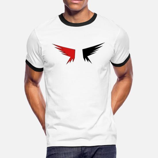 5c3f9bd2 Evil Wings Men's Ringer T-Shirt | Spreadshirt