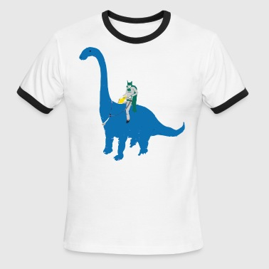 Ashome Dinosaur Lovely Graphic - Men's Ringer T-Shirt