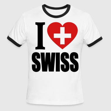 I Love Swiss - Men's Ringer T-Shirt