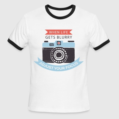 Awesome Tee with photographic quote - Men's Ringer T-Shirt