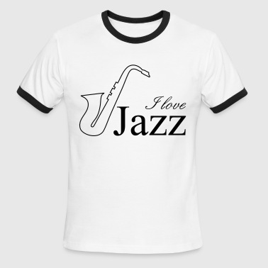 I love jazz - Men's Ringer T-Shirt