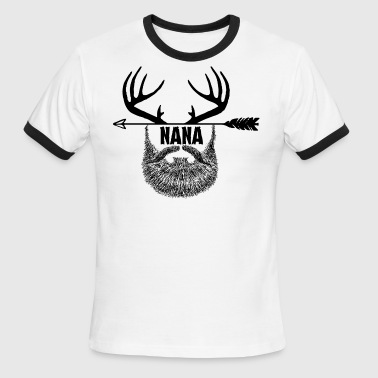 HUNTING Beard NANA - Men's Ringer T-Shirt