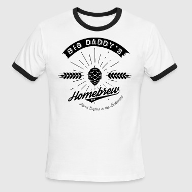 Big Daddy's Homebrew blac - Men's Ringer T-Shirt