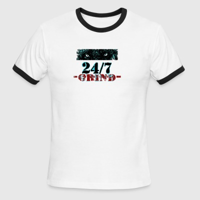 24 7 Grind b132 - Men's Ringer T-Shirt