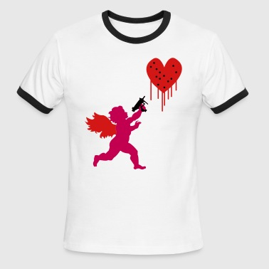 Valentine's Day Cupid Uzi - Men's Ringer T-Shirt