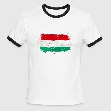 Hungary Flag - Men's Ringer T-Shirt