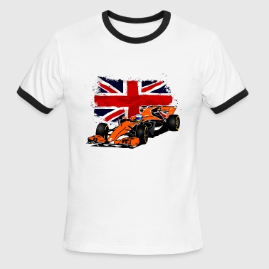 Formula One - Formula 1 - UK Flag - Men's Ringer T-Shirt