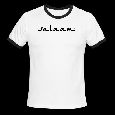 salaam black - Men's Ringer T-Shirt