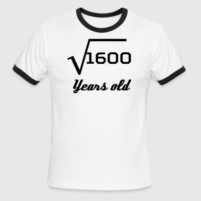 Square Root Of 1600 40 Years Old - Men's Ringer T-Shirt