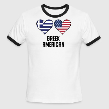 Greek American Heart Flags - Men's Ringer T-Shirt