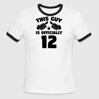 This Guy Is Officially 12 Years Old 12th Birthday - Men's Ringer T-Shirt