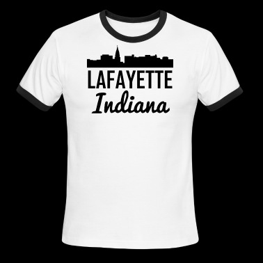 Lafayette Indiana Skyline - Men's Ringer T-Shirt
