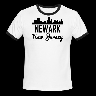 Newark New Jersey Skyline - Men's Ringer T-Shirt