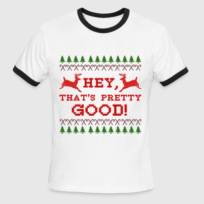 idubbbz Hey, That's Pretty Good! Ugly Sweater - Men's Ringer T-Shirt