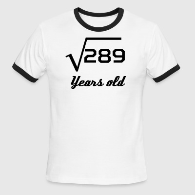 Square Root Of 289 17 Years Old - Men's Ringer T-Shirt