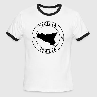 Sicilia Design - Men's Ringer T-Shirt