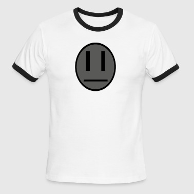 Invader Zim Dib emoticon shirt - Men's Ringer T-Shirt