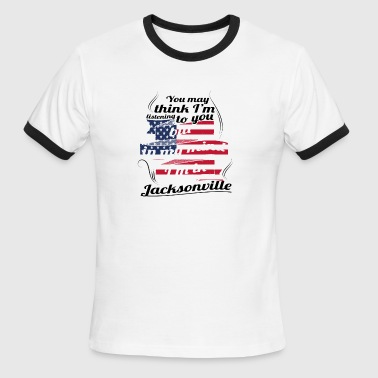 THERAPIE URLAUB AMERICA USA TRAVEL Jacksonville - Men's Ringer T-Shirt