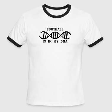 dns dna not only love calling football running bac - Men's Ringer T-Shirt