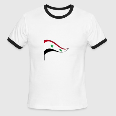 Syria Flag Banner Flags Ensigns War Peace Homeland - Men's Ringer T-Shirt